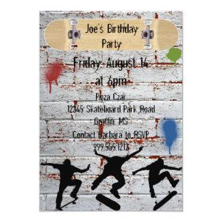 Skateboard Birthday Party Invitations