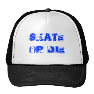 Skateboard blue gold die cap
