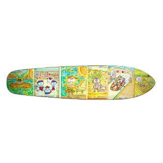 skateboard dia de los muertos