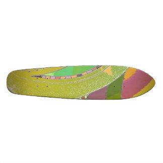 Skateboard  Ethnic Design 2 Green / Mauve / Multi