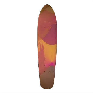 "Skateboard ""No Paradox"" design 2 wine / gold"