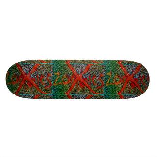 skateboard No Zombies red greenish