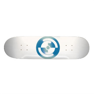 Skateboard with Abstract Circles Design