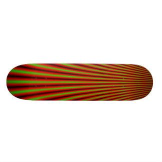 Skateboard with optical illusion design