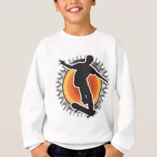 Skateboarder Design Sweatshirt