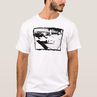 SKATEBOARDER KICKFLIP Black & White T-Shirt