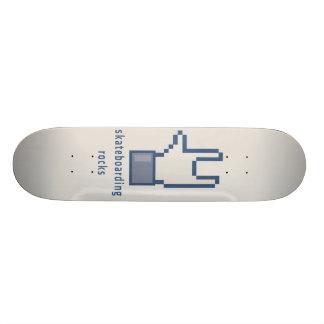 Skateboarding rocks skate board
