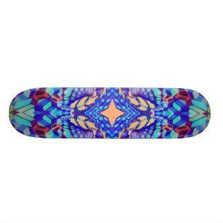 Skateboarding sacred as a hexagon skateboard deck