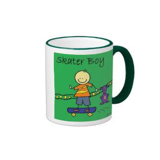 skater boy ringer mug