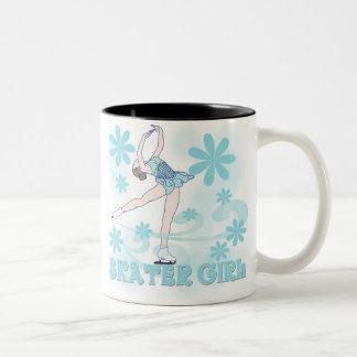 Skater Girl Two-Tone Coffee Mug