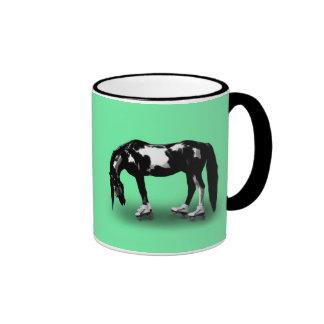Skater Horse Ringer Mug