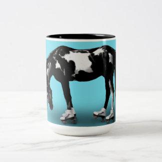 Skater Horse Two-Tone Coffee Mug