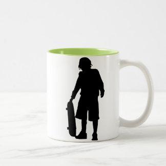 Skater; Skateboard Two-Tone Coffee Mug