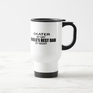 Skater - World's Best Dad by Night Stainless Steel Travel Mug