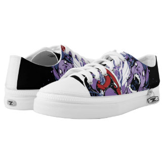 Skater Zombie Low Tops Printed Shoes