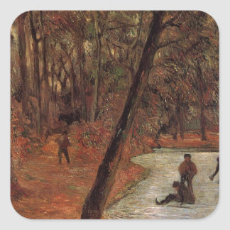 Skaters in Fredericksberg park by Paul Gauguin Square Sticker