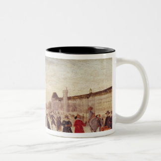 Skaters on the Seine in 1608 Coffee Mugs