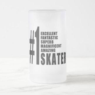 Skating and Skaters : Number One Skater Frosted Glass Mug