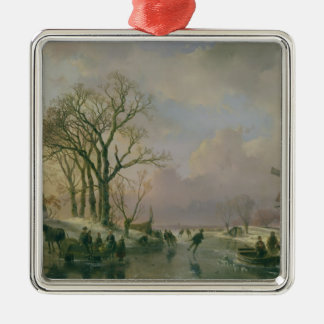 Skating in Holland Christmas Ornament