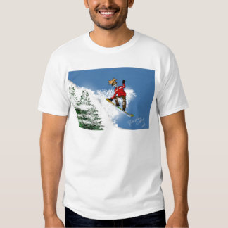 Skeletal Snow Boarder T-shirts