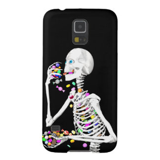 Skeleton Eating Halloween Candy Cases For Galaxy S5