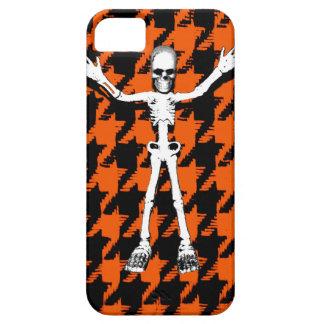 Skeleton On Halloween Houndstooth iPhone 5 Case