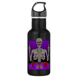 Skeleton Poker Flip 532 Ml Water Bottle