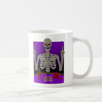 Skeleton Poker Flip Basic White Mug