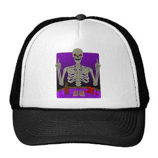 Skeleton Poker Flip Cap