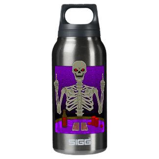 Skeleton Poker Flip Insulated Water Bottle
