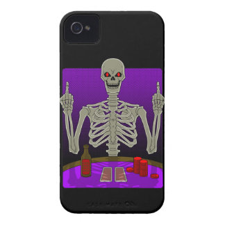 Skeleton Poker Flip iPhone 4 Case-Mate Case
