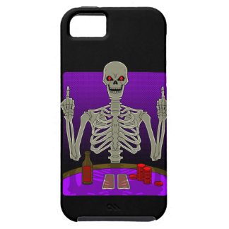 Skeleton Poker Flip iPhone 5 Cases