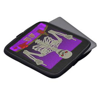 Skeleton Poker Flip Laptop Computer Sleeve