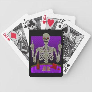 Skeleton Poker Flip Poker Cards