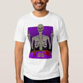 Skeleton Poker Flip Shirts
