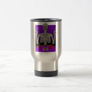 Skeleton Poker Flip Stainless Steel Travel Mug