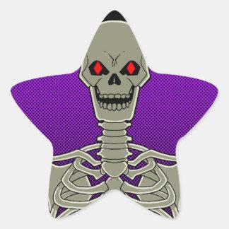 Skeleton Poker Flip Star Sticker