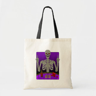 Skeleton Poker Flip Tote Bag