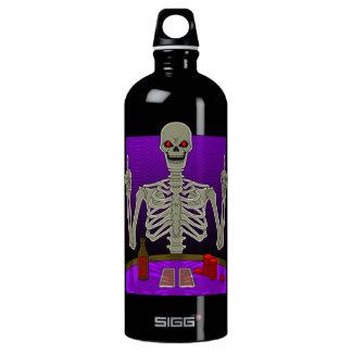 Skeleton Poker Flip Water Bottle