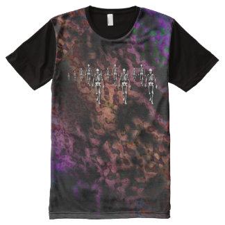 Skeleton walk grunge tie dye All-Over print T-Shirt