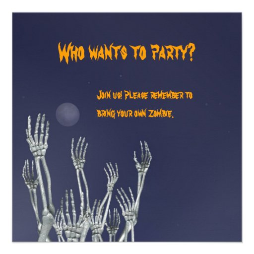 Skeletons - Halloween Party Invitation