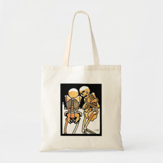 Skeletons Out in the Cold Trick or Treat tote Tote Bags