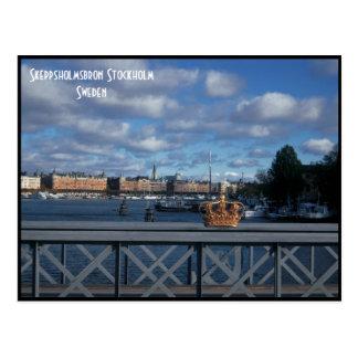 Skeppsholmsbron bridge, Stockholm - Sweden Postcard