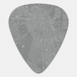 Sketch of Boston City Map Plectrum