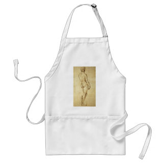 Sketch of Michelangelo s David Statue by Raphael Aprons