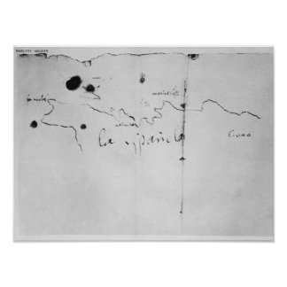 Sketch of the coast of Espanola, Poster