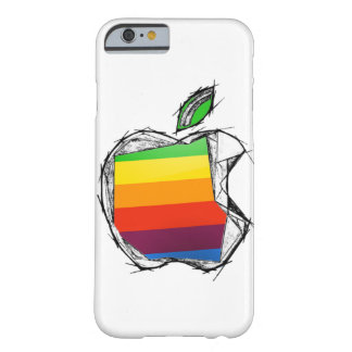 Sketch style Apple Logo Barely There iPhone 6 Case