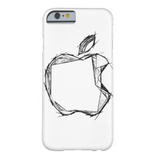 Sketch style Apple Logo CUSTOMIZABLE Barely There iPhone 6 Case