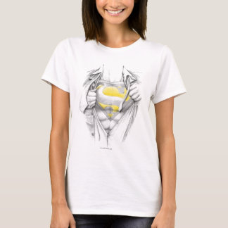 Sketched Chest Superman Logo T-Shirt