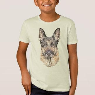 Sketched Portrait of a German Shepherd Dog T-Shirt